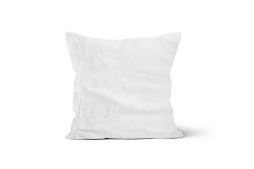 Camille 553011 Funda de Almohada de algodón percal 65x65 cm Blanco, de Songe