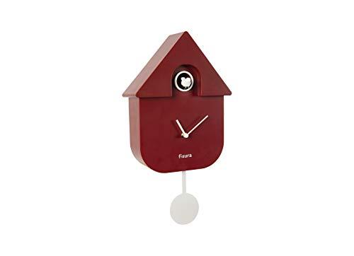 7356293bf26b Fisura CL0930 Reloj Cuco Moderno de Pared con Pájaro con Forma de Casa