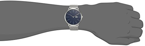 Lacoste Men's 'MOON' Quartz Stainless Steel Casual Watch, Color Silver-Toned (Model: 2010900)