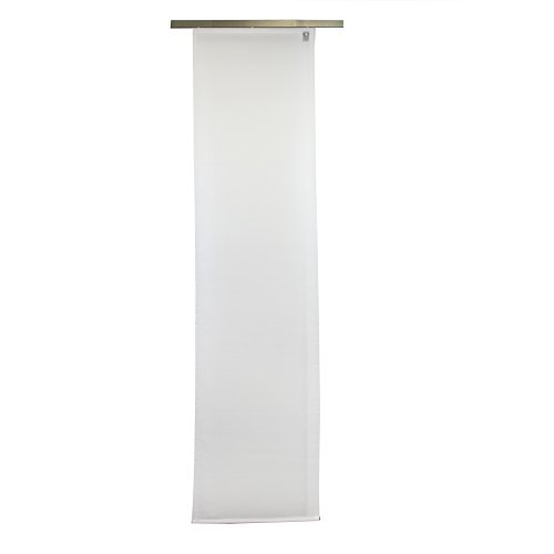 Gözze 66026-00-6045 suez - tenda a pannello, scorrevole, effetto seta finemente intrecciata, fissaggio con velcro, in poliestere, certificazione oeko-tex® standard 100, 60 x 245 cm, bianco
