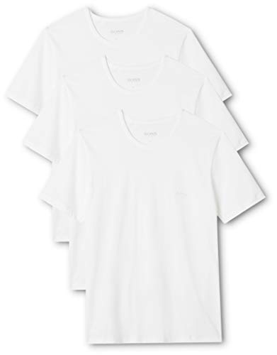BOSS Herren RN 3P CO T-shirts, 3er Pack, Weiß (White 100), Large