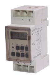 Maclean - Programador eléctrico digital semanal tipo carril din 16a 220v