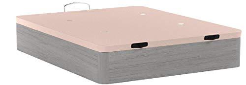 HOGAR 24 Canapé Abatible Madera Gran Capacidad con Tapa 3D y Válvulas de Transpiración, con Esquineras en Madera Maciza, Color Roble Cambrian, 150X190cm