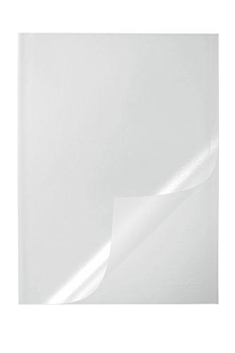 Durable 291919 Klemmschienenhülle A4, für circa 1-100 Blatt, Packung à 50 Stück, transparent