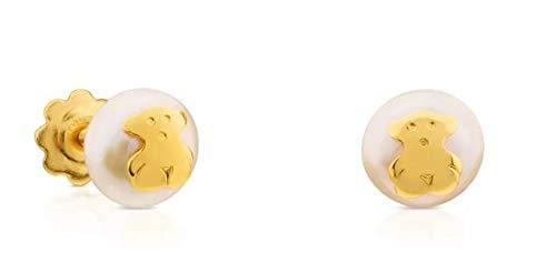 TOUS Pendientes Baby oro amarillo 18kt perlas cultivadas