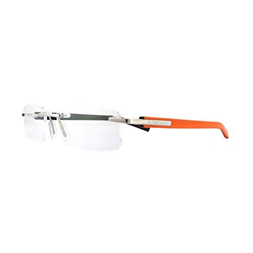 7b231488be TAG HEUER 8108 014 Black & Orange Rimlesss EyeGlasses Frames Brille Glasses  Size : 56 x