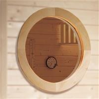 Weka Fenster / Rundfenster für Sauna aus 45mm Massivholz (Sauna Fenster)