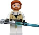 LEGO Star Wars Minifigure - Obi-Wan Kenobi with Lightaber (Clone Wars) by (Wan Obi Wars Kenobi Star)