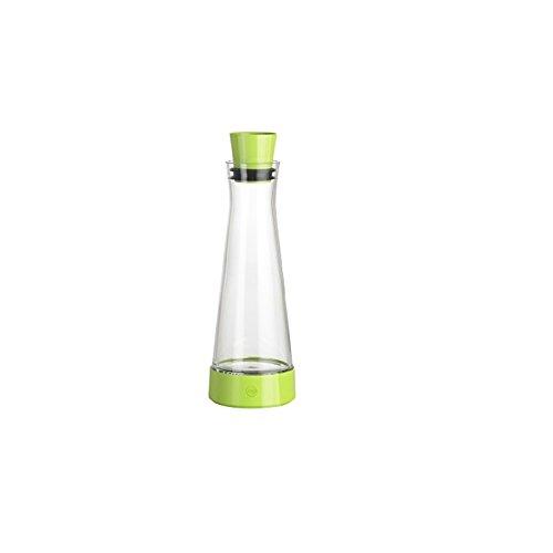 Emsa 515478 Flow Slim Friends Glas Karaffe, Fassungsvermögen: 1 Liter, 12 x 12 x 35,7 cm, hellgrün