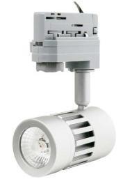 LED Schienenstrahler / Tracklight / 8W / 4000K / neutralweiß / 550 Lumen / dimmbar / 36° Abstrahlwinkel / silber / 5 Jahre Garantie