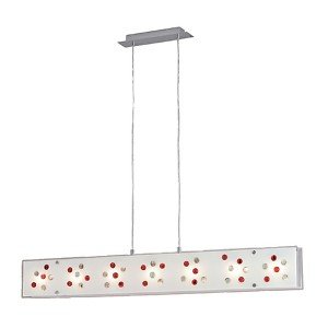 Santiago Nickel Matt Glass Nugget Pendant Lamp E624