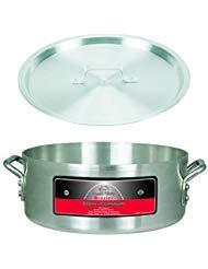 Braiser Set (Winco axhb-18, 18-quart 40,6cm Durchmesser x 5-13/81,3cm Professional besonders Super Aluminium Feuerschale Pfanne mit dazu passender Bezug)