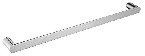 Keybath Modern Schwarz Silber Handtuch holdertowel Bar Handtuch Rack SUS304Edelstahl Handtuchhalter Handtuch Ring für Badezimmer WC WANDHALTERUNG zeitgenössischen Stil, Matt Schwarz Towel Bar Silber (Bar Zeitgenössische Silber)