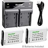 Kastar 2X Battery + Fast Dual Charger for Nikon EN-EL23 and Nikon Coolpix B700 Coolpix P600 Coolpix P610s Coolpix P610 Coolpix P900 Coolpix P900s Coolpix S810c Digital Cameras