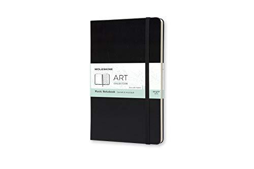 Moleskine Kreativ-Notizbücher, Musiknotizbuch Large, Hardcover schwarz