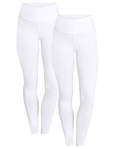 Berydale Hochbund Leggings, Weiß), Wna(Herstellergröße: L), 2er-Pack