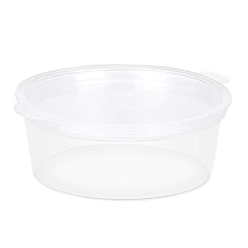 100 Pack 2 UNZE Schleim Container, Auslaufsicher Gewürzsauce Snack Souffle Container Tasse Durchsichtigen Kunststoff Portionsbecher Schaum Ball Lagerbehälter mit Deckel Kinder Handwerk Spielzeug Zubeh