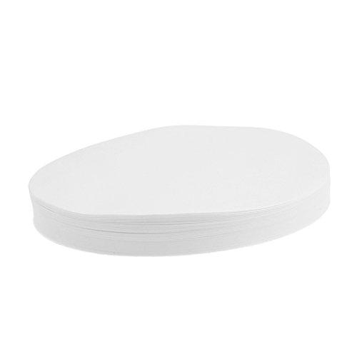 MagiDeal 100 Stücke Rund Filperpapier 7cm 9cm 11cm12.5cm 15cm Durchmesser Aschefreie Filter Papier Apertur 30-50um für Labor - Weiß, 15 cm (Labor-filter-papier)