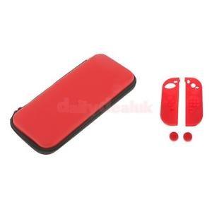 Alcoa Prime Silicon Case Protective Skin Thumb Stick Caps+EVA Bag for Nintendo Switch