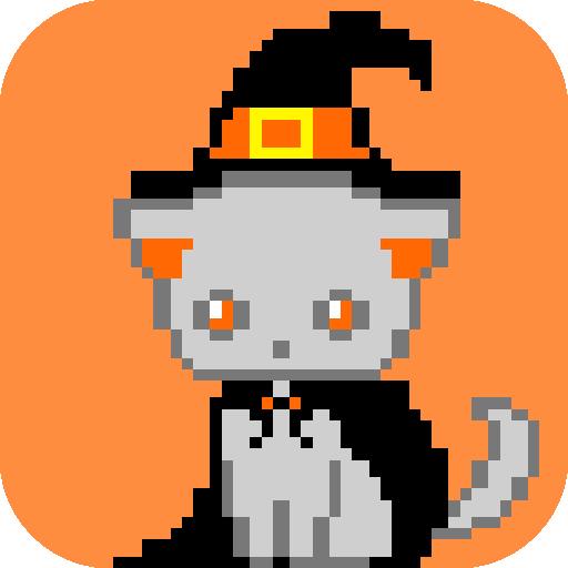 Halloween Color By Number, Pixel Art Halloween