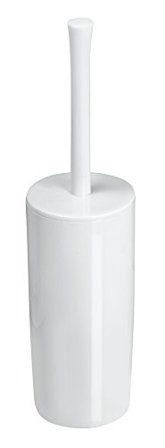 Mdesign scopino bagno con porta scopino – elegante spazzolino wc in plastica – scopino wc ideale per bagno padronale o degli ospiti – bianco