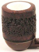Fornello di tipo Dublin foderato in schiuma di sepiolite, stile rustico, per pipe Falcon standard