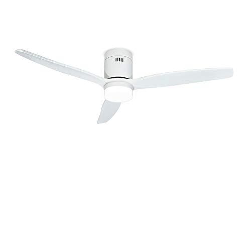 IKOHS LIGHTCALM White - Ventilador de Techo 40W DC Reverse con Luz