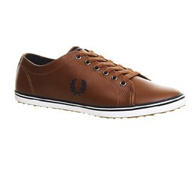 Fred Perry KINGSTON LEDER New Tan Navy