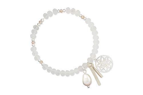 LIZAS Schmuckarmband Armband edel (matt Weiß)