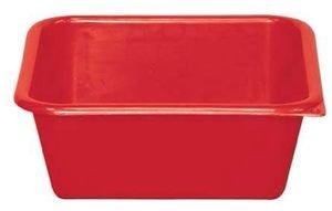 Aluminium Aluminium et plastique bol carrée 8,5 L rouge – CC32 R