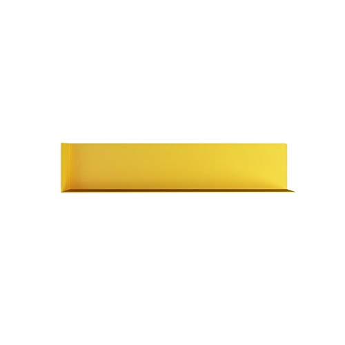 JCNFA Schwimmende Regale An Der Wand Montiert L-Eisenrahmen Espresso-Finish Formleiste Regale , Perfektes Dekor Für Jeden Raum (Farbe : Gelb, größe : 15.74 * 3.34 * 3.34in) -