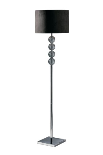 Premier Housewares Mistro Floor Lamp - Smoke Glass