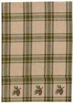 Pine Lodge Border Dish Towel by Primitive Home Decors