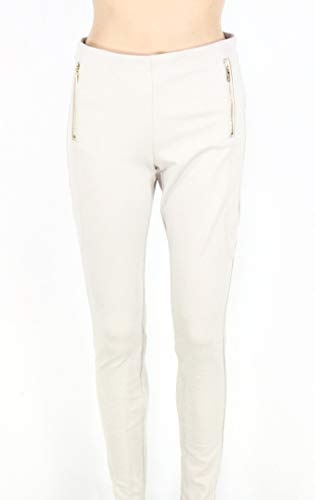 INC Damen Hose Toad Solid Ponte-Knit Skinny Stretch Beige 42 -