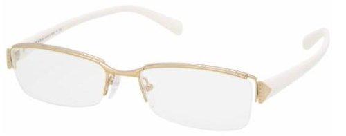Prada Für Frau 53n Pale Gold / White Metallgestell Brillen