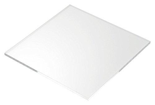 "Acrylic Sheet / Plexi Glass Transparent 12"" x 12"" x 3mm"