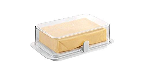 Tescoma Purity Boîte à Beurre en Plastique pour réfrigérateur, Grand Format, Transparent