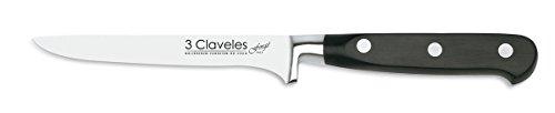 3Claveles Forgé - Cuchillo para deshuesar forjado, 13 cm, 5 pulgadas