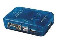 M-Cab KVM0818 interruptor KVM Azul - Periférico de entrada (1920 x 1440 Pixeles, USB, USB, VGA, Azul)