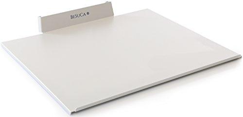 BESUCA Einfach aufgeräumt EA1.0 Festplattenhalterung, Fix, Ablage aus Stahl für 24 und 27 Zoll iMAC mit CD/DVD-Laufwerk, Weißaluminium - Cd-ablage Tisch