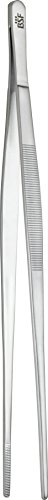 BSF 13001–208–0Lausanne parrilla Pinzas, acero inoxidable, Plata, 30,4x 2,9x 1,9cm
