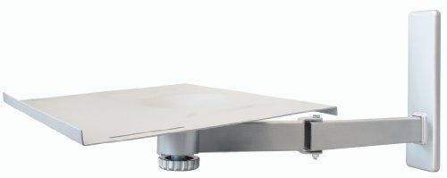 My Wall H20L, 20 Jahre Garantie,  TV Wandhalterung bis 53cm (21 Zoll), max.35kg, neigbar, schwenkbar, silber -