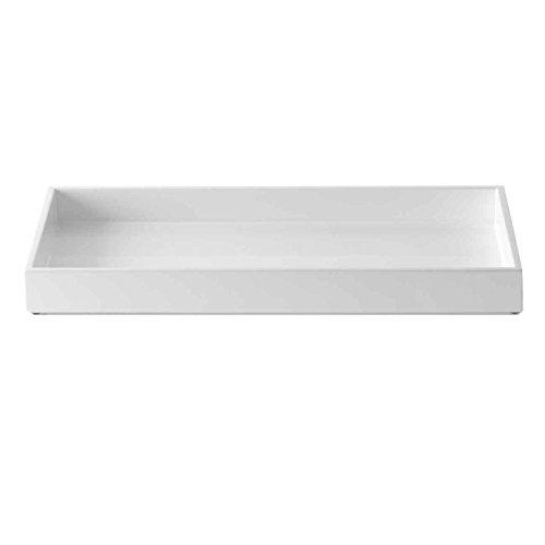 mojoo dänemark Lacktablett, XL, rechteckig - lackiert und handpoliert - Hochglanz - 40x60x4 cm - Weiß Weiss, kleine Kratzer Lassen Sich mit Autopolitur entfernen