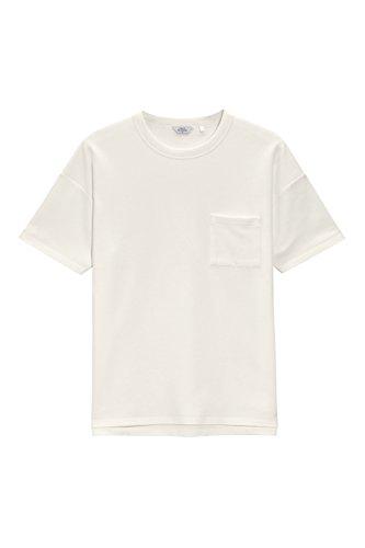 next Herren T Shirt Waffelstruktur Kurzarm Rundhals Normale Passform Baumwolle Ecru