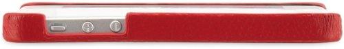 StilGut exklusives Cover für die Rückseite aus echtem Leder für Apple iPhone 5 & iPhone 5s, Schwarz Vintage Rot