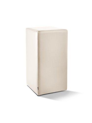 Pomp Tresenhocker, mit komfortabler Polsterung, B = 33 cm, T = 33 cm, H = 65 cm, echtes Leder, cremeweiß
