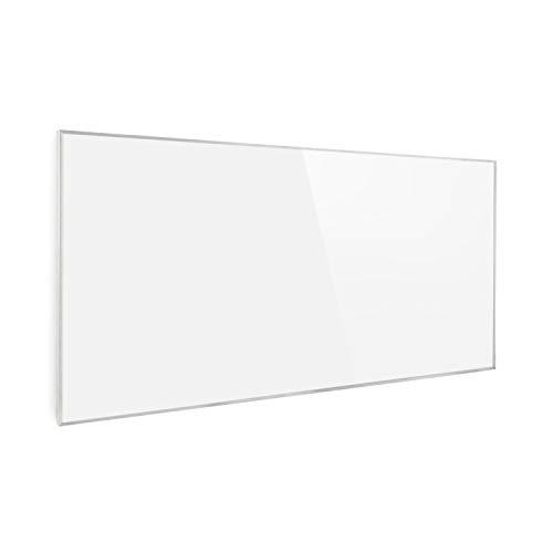Klarstein Wonderwall 72 Infrarot-Heizung - Wandheizung, 60 x 120 cm Heizpanel, 720 Watt, Carbon Crystal Technik, Wochentimer, Auto-Abschaltfunktion, Allergiker-geeignet, IP24, weiß
