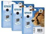 Original Druckerpatronen Epson T0711 (Dreierpack, 3 x Schwarz) Tintenpatronen für Epson Stylus B40W BX600FW BX300f BX610FW BX310FN D & DX Range D78 DX4000 DX4450 DX6000 DX7000 DX7450 DX8450 D120 D92 DX4050 DX5000 DX6050 DX7000F