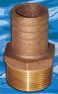 GROSS MECHANICAL Groco Bronze Tuyau vers Adaptateur de Tuyau 2,5 cm Gropth1000