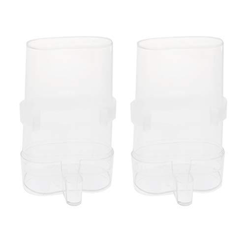 perfk 2 Stück Automatisch Wasser Feeder Trinkflasche Wasserspender mit Klammer für Vogel/Papagei